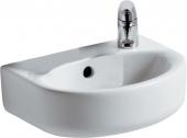 Ideal Standard Connect - Handwaschbecken 350x260mm mit 1 Hahnloch rechts mit Überlauf weiß mit IdealPlus