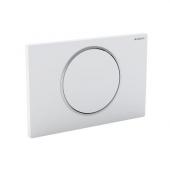 Geberit Sigma10 - Drückerplatte für WC mit 1-Mengen-Spülung weiß / chrom hochglanz / weiß
