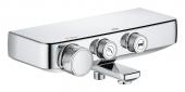 Grohe Grohtherm SmartControl - Thermostat-Wannenbatterie Wandmontage chrom