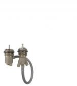 Hansgrohe Axor - 2-Loch Thermostat Grundkörper externer Auslauf für Wannenrandmontage