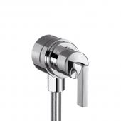 Hansgrohe Axor Citterio - Fixfit Stop Schlauchanschluss mit Abstellventil und Hebelgriff chrom