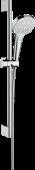 Hansgrohe Croma Select E - Multi EcoSmart Brauseset 0,65 m weiß / chrom
