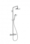 Hansgrohe - Croma Select S 180 2jet Showerpipe EcoSmart weiß / chrom