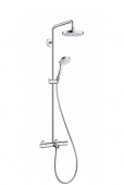Hansgrohe Croma Select S - Showerpipe 180 2jet Wanne weiß / chrom