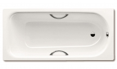 Kaldewei Saniform Star - Badewanne Modell 338 Perl-Effekt mit Vollantislip weiß