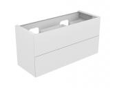 Keuco Edition 11 - Waschtischunterbau 31264 mit 2 Frontauszügen weiß / Glas weiß