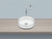 Alape AB - Aufsatzwaschtisch für Möbel 375x375 weiß ohne Beschichtung