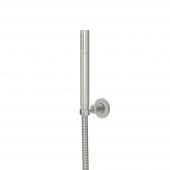 Steinberg Serie 100 BN - Handbrause mit Wandhalter und Metallbrauseschlauch brushed nickel