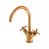 Steinberg Series 250 - Waschtisch-Zweigriffarmatur mit Ablaufgarnitur rose gold