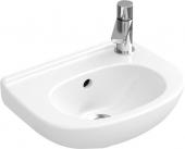 Villeroy & Boch O.novo - Handwaschbecken Compact 360x275mm mit 2 vorgestanzten Hahnlöchern mit Überlauf weiß ohne CeramicPlus