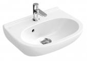 Villeroy & Boch O.novo - Handwaschbecken Compact 450x350mm mit 1 Hahnloch ohne Überlauf weiß mit CeramicPlus