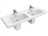Villeroy & Boch Subway 2.0 - Doppelwaschtisch für Möbel 1300x470 weiß mit CeramicPlus