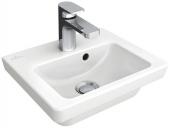 Villeroy & Boch Subway 2.0 - Handwaschbecken 370x305mm mit 1 Hahnloch mit Überlauf weiß ohne CeramicPlus