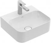 Villeroy & Boch Finion - Handwaschbecken 430 x 390 mm ohne Überlauf stone white mit CeramicPlus