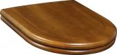 Villeroy & Boch Hommage - WC-Sitz nussbaum gebeizt ohne soft-close Scharniere Messing