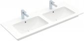 Villeroy & Boch Venticello - Doppelwaschtisch für Möbel 1300x500 weiß mit CeramicPlus