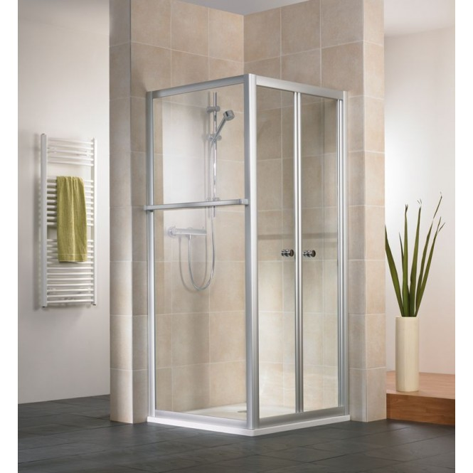 HSK - Folding door 2-piece, 54 Chinchilla 1000 x 1850 mm, 01 Alu silver matt