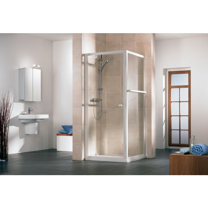 HSK Favorit - Pivot door, favorite, 56 Carré 800 x 1850 mm, 01 Alu silver matt