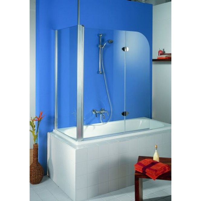HSK - Sidewall to Bath screen, 41 chrome-look 750 x 1400 mm, 100 Glasses art center