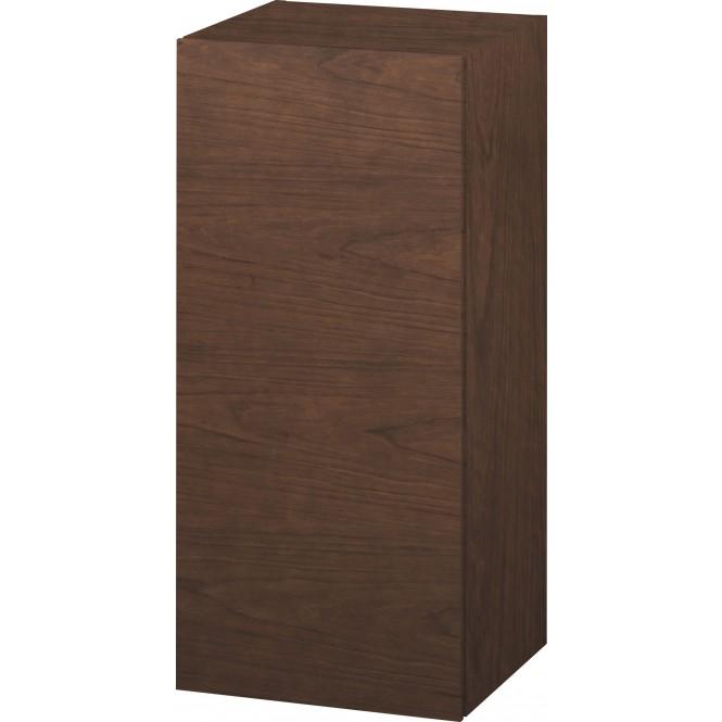 Duravit L-Cube - Halbhochschrank 500 x 900 x 363 mm mit 1 Tür & 2 Glasfachböden & Anschlag links amerikanisch nussbaum