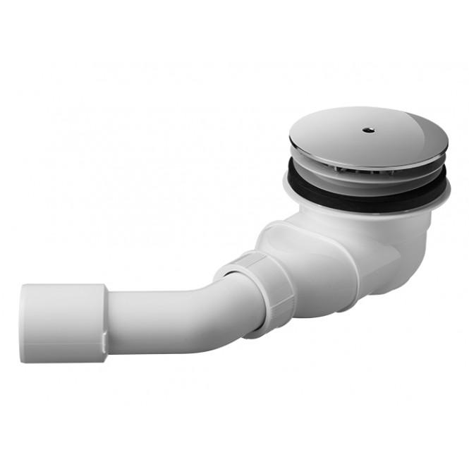 Duravit D-Code - Duschwannenablauf 90 mm Ablauf waagrecht chrom