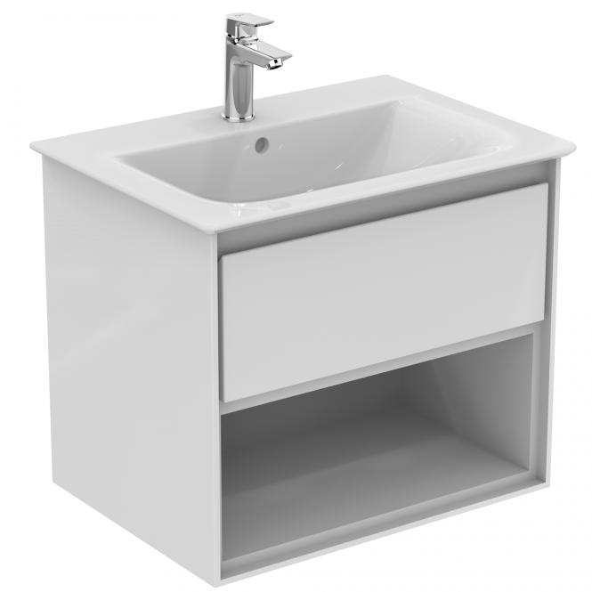 Ideal Standard Connect Air - Waschtisch-Unterschrank 600 x 440 x 517 mm weiß glänzend / matt