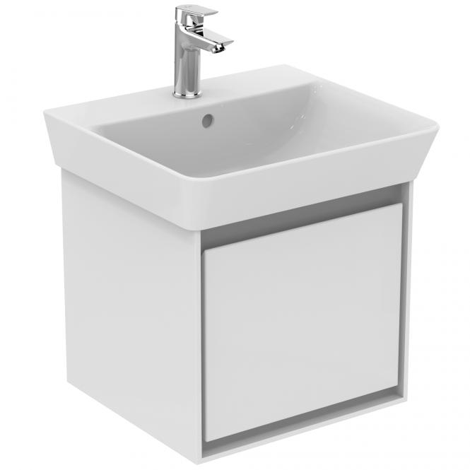 Ideal Standard Connect Air - Waschtisch-Unterschrank 435 x 402 x 400 weiß glänzend / hellgrau matt