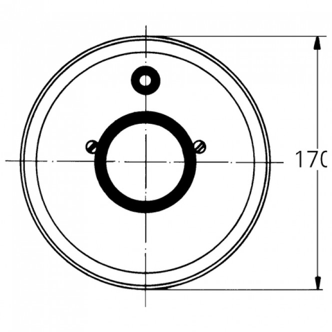 Grohe - Rosette 46057 d: 170 mm für Einhandmischerchrom
