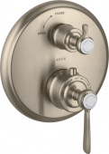 Axor Montreux - Thermostat UP F-Set Hebelgriff mit Absperrventil brushed nickel