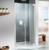 HSK K2P - Swing door for side panel, K2P, 50 ESG clear bright 800 x 2000 mm, 41 chrome look