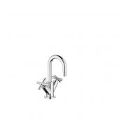 Dornbracht Tara - 2-handle basin mixer M-Size with pop-up waste set chrome