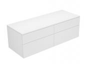 Keuco Edition 400 - Sideboard 31767 4 Auszüge weiß / Glas weiß klar