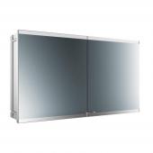 Emco Asis Evo - LED-Lichtspiegelschrank Unterputz 1200 mm 2-türig