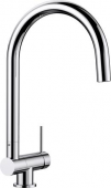 Blanco Coressa-F - Küchenarmatur metallische Oberfläche Hochdruck Hebel rechts chrom