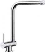 Blanco Laressa-F - Küchenarmatur metallische Oberfläche Hochdruck Hebel links chrom