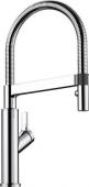 Blanco Solenta-S - Küchenarmatur metallische Oberfläche Hochdruck Hebel rechts chrom