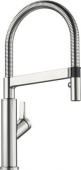 Blanco Solenta-S - Küchenarmatur UltraResist Hochdruck Hebel rechts Edelstahl finish PVD