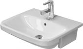 Duravit DuraStyle - Halbeinbauwaschtisch 550 mm mit Überlauf 1 Hahnloch weiß WonderGliss