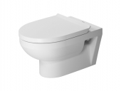 Duravit DuraStyle - Basic Wand-Tiefspül-WC rimless Set mit WC-Sitz und Durafix Toilette