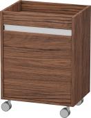 Duravit Ketho - Rollcontainer 360x500x670mm 1 Tür Türanschlag rechts nussbaum dunkel