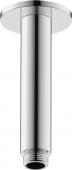 Duravit Universal - Brausearm Decke L125 rund schwarz matt