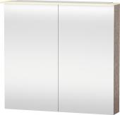 Duravit X-Large - Spiegelschrank 138x800x760mm 2 Spiegeltüren LED nussbaum dunkel