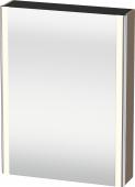 Duravit XSquare - SPS mit Beleuchtung 800x600x155 leinen Türanschlag links