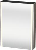 Duravit XSquare - SPS mit Beleuchtung 800x600x155 flannel grey seidenmatt Türanschlag links