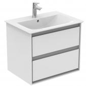 Ideal Standard Connect Air - Waschtisch-Unterschrank 600 x 517 mm weiß glänzend / hellgrau matt
