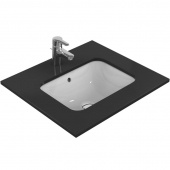 Ideal Standard Connect - Undercounter washbasin 500x380mm without tap holes with overflow white with IdealPlus