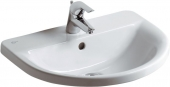 Ideal Standard Connect - Drop-in washbasin for Console 550x460mm with 1 tap hole with overflow white with IdealPlus