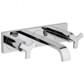 GROHE Allure - 3-Hole Basin Taps wall-mounted with projection 172 mm without waste set chrome