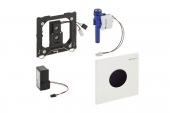 Geberit Sigma01 - Infra-Red electronic flush plate for urinal chrome silk gloss / black