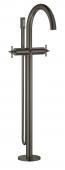 Grohe Atrio - 2-Griff-Wannenbatterie Bodenmontage Fertigmontageset hard graphite gebürstet Bild 1